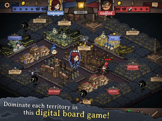 Antihero Digital Board Game with Multi-Player Mode for iOS
